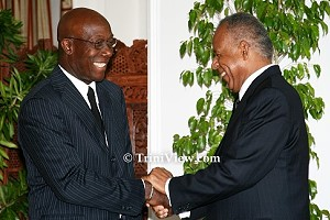 Dr. Keith Rowley and Prime Minister Patrick Manning